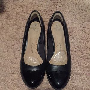 Black Office Shoes Wedges Size 7